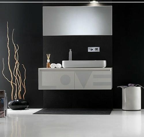 bad einrichtung manimalistisch schwarz wei - Einrichtung Design Badezimmer