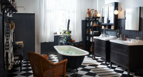 top small bathroom designs dunkle badezimmer design ideen schwarz weisse bodenfliesen