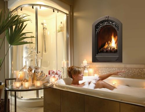 badewanne luxus erholsam idee badezimmer kamin