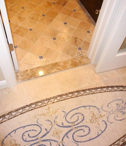 badezimmer boden idee modern stilvoll design