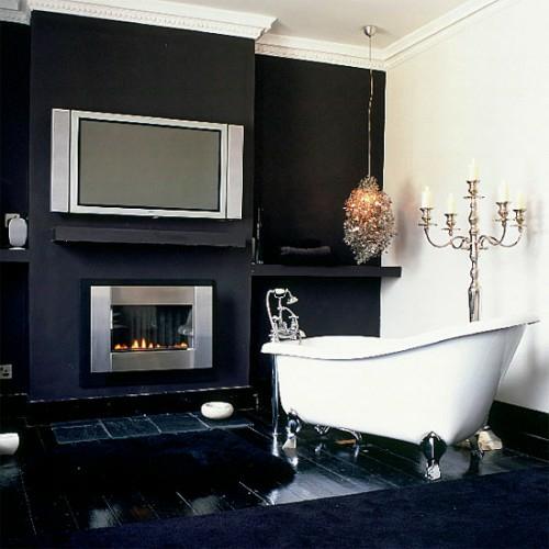 badezimmer designs mit einbaukaminen idee badewanne