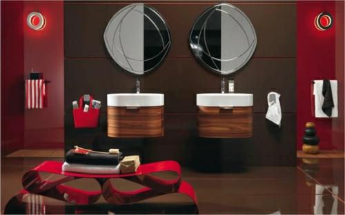 badezimmer glänzend oberfläche design idee