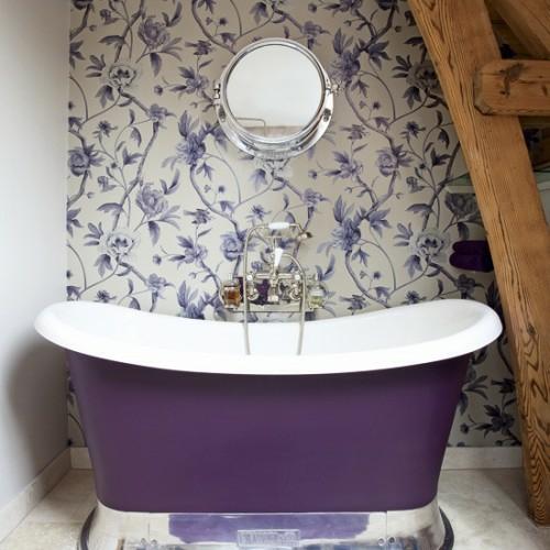 badgestaltung mit tapete | badezimmer & wohnzimmer, Innenarchitektur ideen