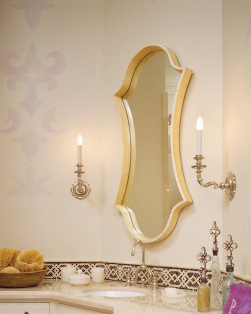 badezimmer interieuers einfarbig schlicht kerzen elegant