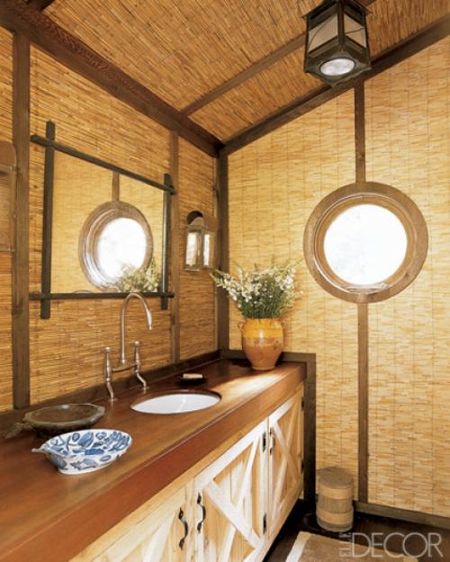 badezimmer interieuers extravagant stroh exotisch