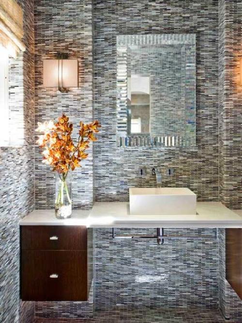 Badezimmer Interieurs extravagant texturen originell design
