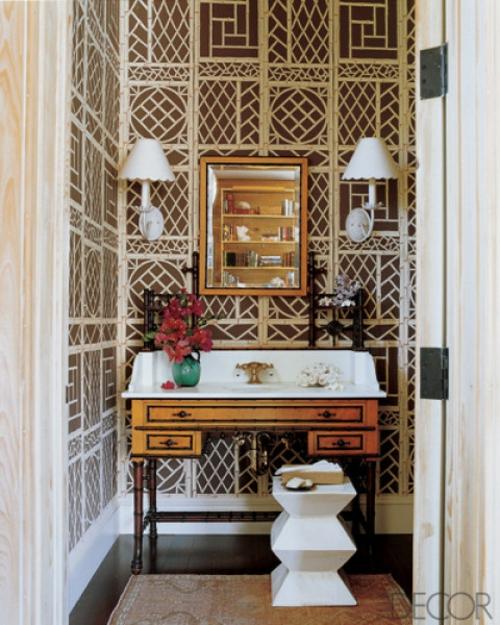 Badezimmer Interieurs klassischwaschbecken schminktisch toilettentisch
