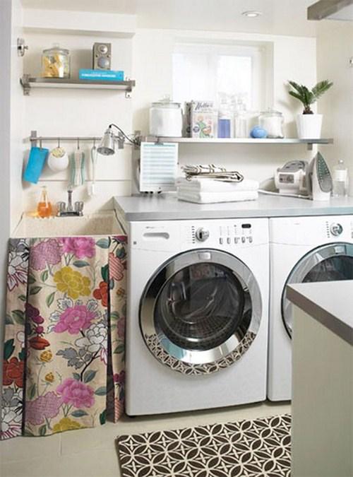 behagliche kleine Waschküche Interieur Design