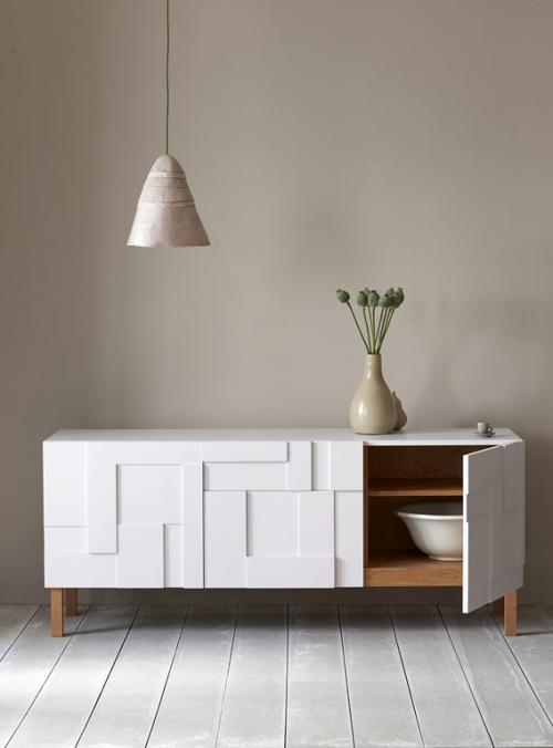 Möbel aus Naturholz hängelampe kunststoff weiß kommode bodenbelag