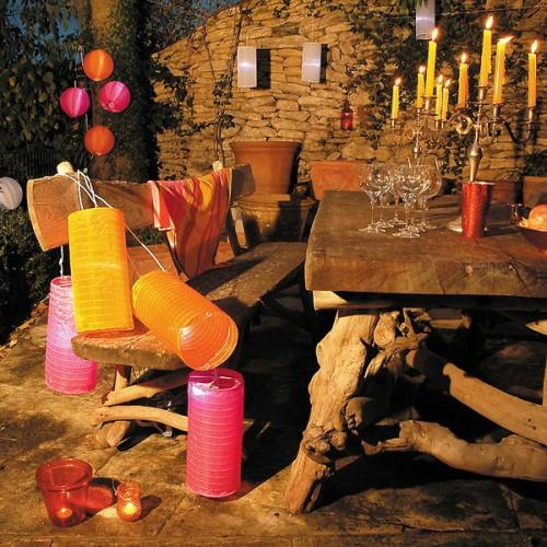 beleuchtung lampen dekoration garten hinterhof bunt