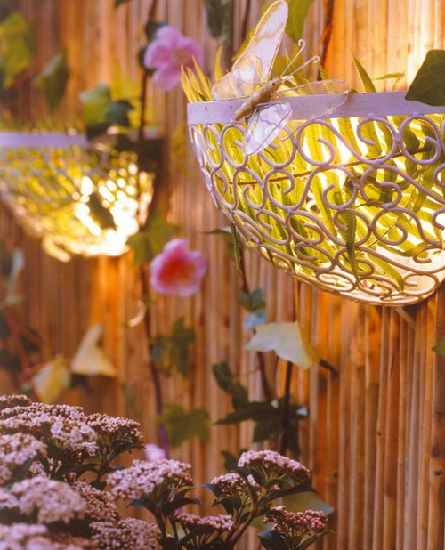 beleuchtung lampen dekoration garten hinterhof idee originell