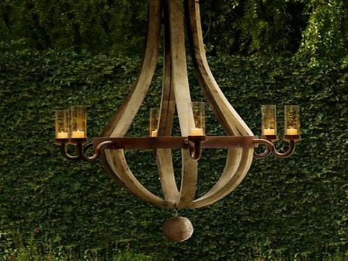 beleuchtung lampen dekoration garten kronleuchter schlicht hölzern