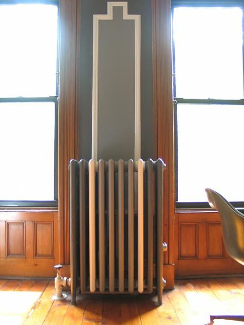 bemalen von alten radiatoren monochrom farben wand ähnlich