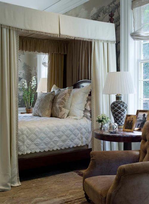 bequem gemütlich Himmelbett im Schlafzimmer idee