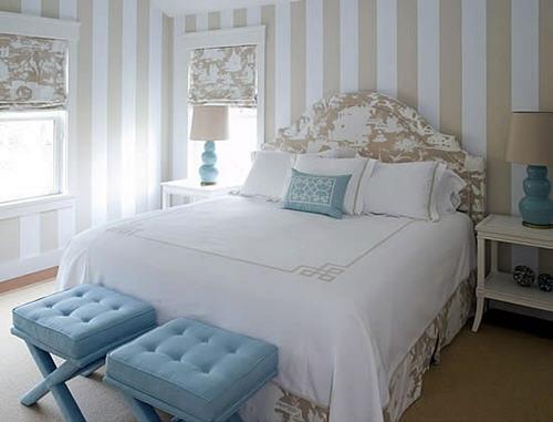 Gestreifte Tapeten Schlafzimmer : Ein Schlafzimmer im orientalischen Stil ? beeindruckender Kopfteil