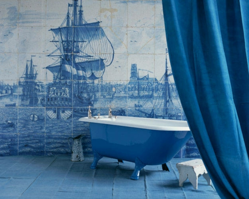 Badezimmer Weiss Blau : Badezimmer Blau Tablighbashi Hausgestaltung Ideen