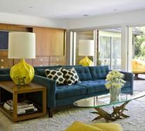 70 moderne, innovative luxus interieur ideen fürs wohnzimmer - Wohnzimmer Blau Gelb
