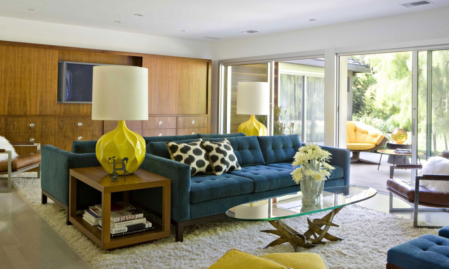 70 moderne, innovative luxus interieur ideen fürs wohnzimmer - Wohnzimmer Gelb Blau