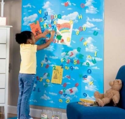 magnettafel im kinderzimmer 10 praktische und n tzliche. Black Bedroom Furniture Sets. Home Design Ideas