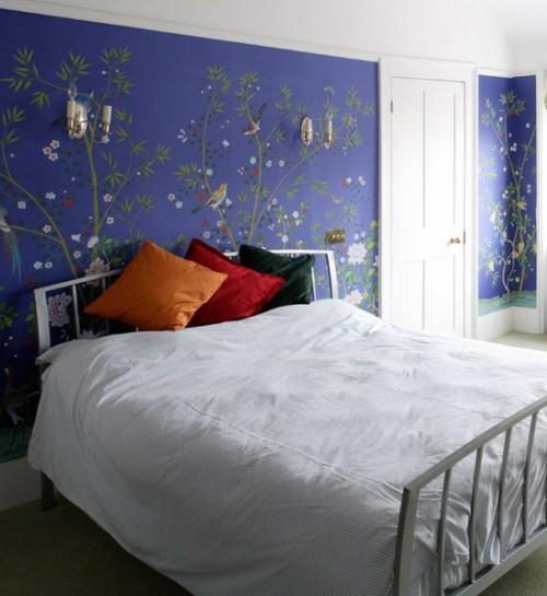 25 Englische Schlafzimmer Interieur Ideen - Designer Musterzimmer Schlafzimmer Einrichten Blau