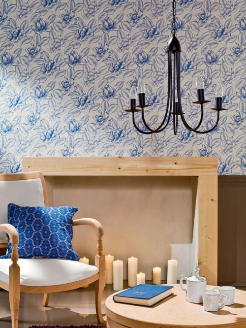 wohnzimmer deko blau:wohnzimmer deko blau : Wohnzimmer Design voller Farbkontraste