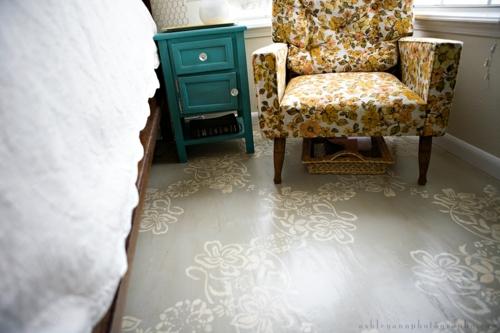Wohnzimmer Boden Idee : inspirierende Ideen für bemalten Fußboden ...