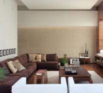 70 moderne, innovative luxus interieur ideen fürs wohnzimmer - Moderne Wohnzimmer Braun