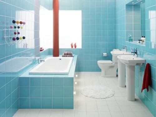 badezimmer fliesen bunt aqua blue bathroom mediterrane