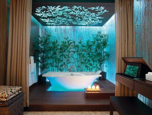 bunte badezimmer designs grelle farben badewanne