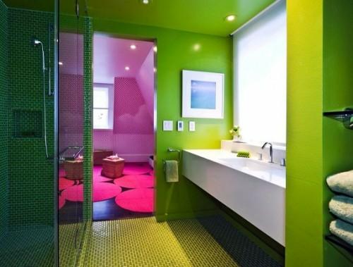 bunte badezimmer designs grelle farben