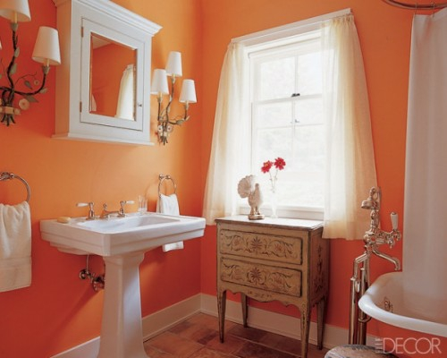 bunte badezimmer designs orange klassisch