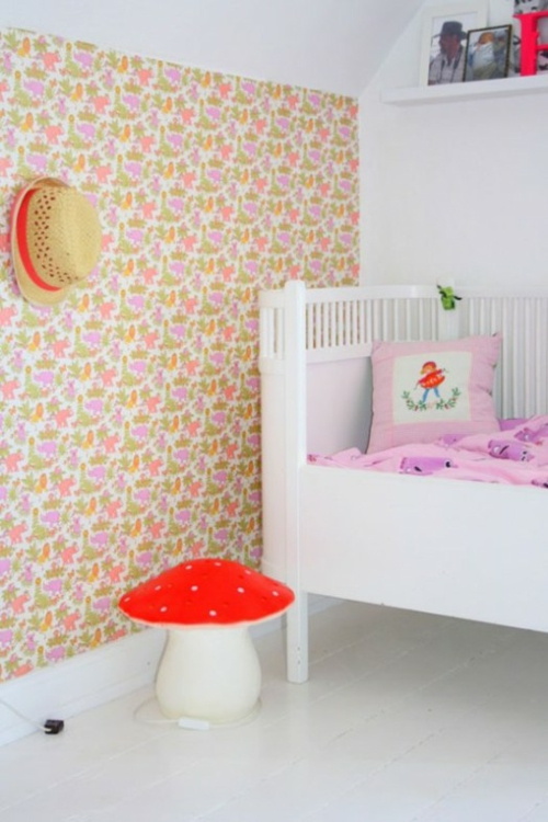 Stilvolle Kinderzimmer | Stilvolle Kinderzimmer Idee Fur Zwillingsmadchen In Rosa Weiss Und Rot