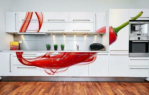 chilipfeffer tapete küchenschränke kompakt originell