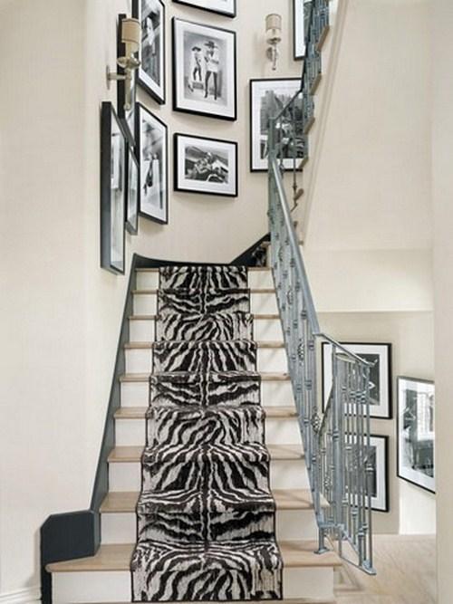 coole Treppen-Vorleger Zebramuster dee