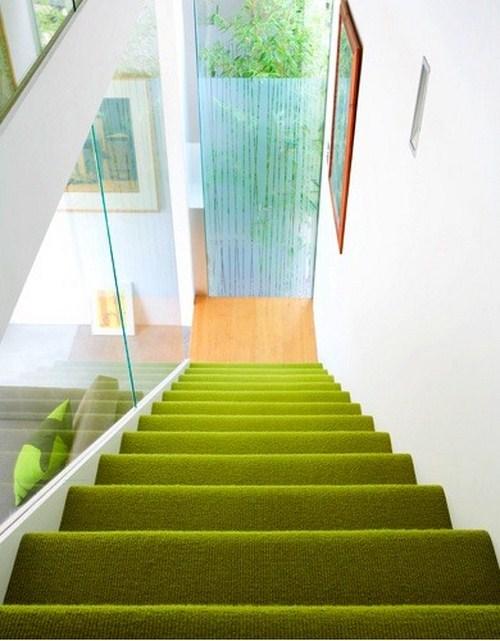 coole Treppen Vorleger grüne Farbe