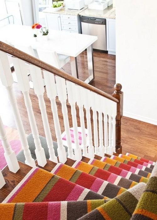 coole Treppen-Vorleger bunten farben