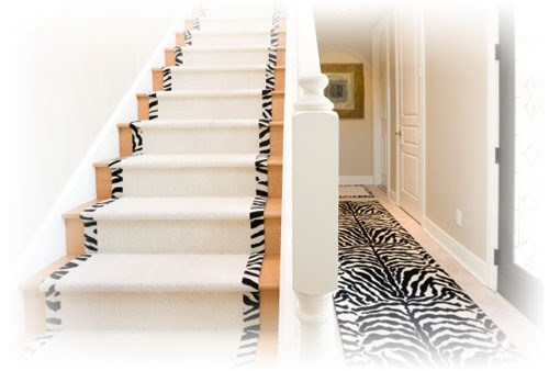coole Zebramuster Vorleger design zuhause