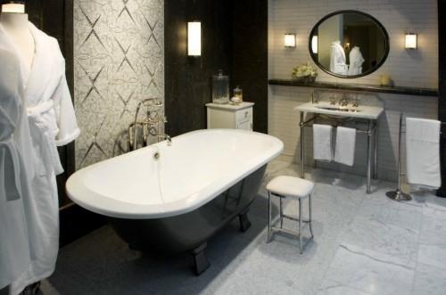 coole fliesenspiegel ideen badezimmer badetücher