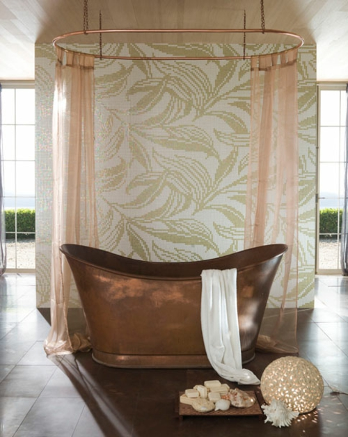coole fliesenspiegel ideen badezimmer extravagant