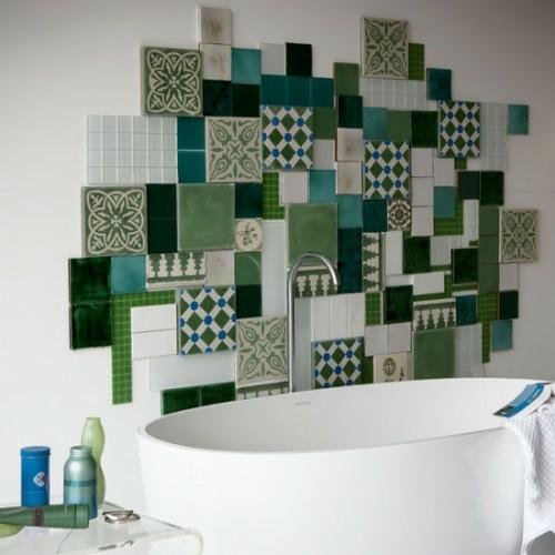 coole fliesenspiegel ideen badezimmer kombination