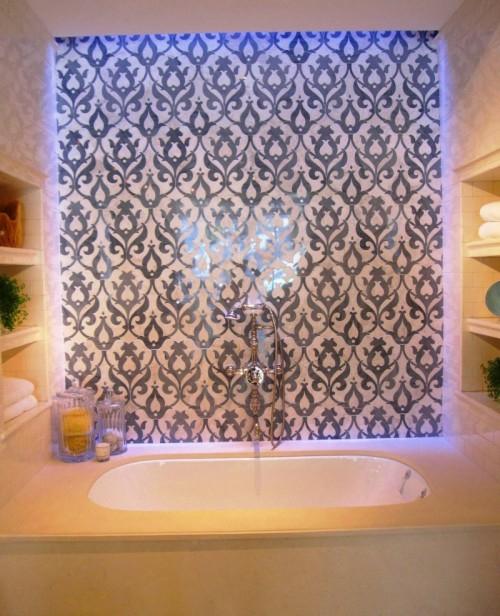coole fliesenspiegel ideenbadezimmer verzierung badewanne