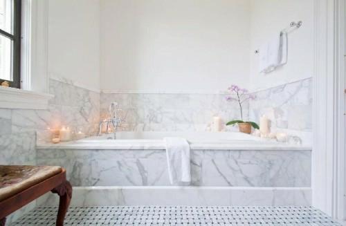 coole fliesenspiegel ideen badezimmerweiß interieur