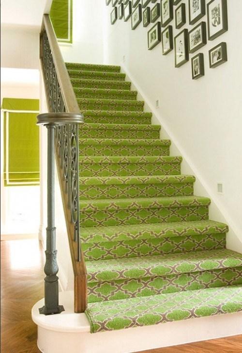coole grüner Treppen Vorleger Idee Haus