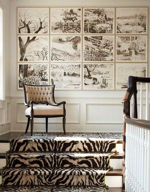 coole Treppen-Vorleger Zebra Design