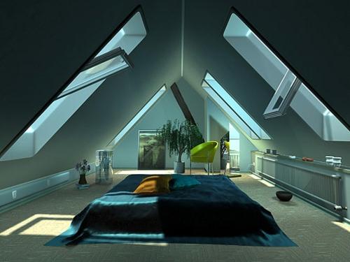 schlafzimmer im dachgeschoss vorschlag f r kompakten kleiderraum. Black Bedroom Furniture Sets. Home Design Ideas
