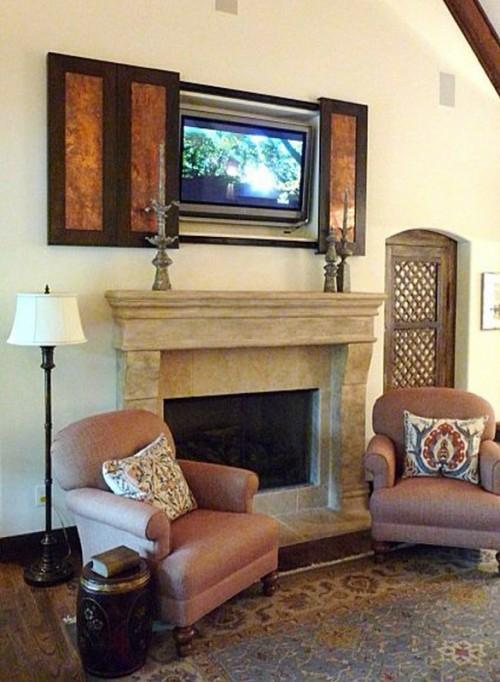 Der Moderne Fernseher An Verschiedene Interieurs Anpassend
