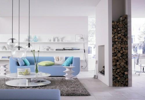 20 erstaunliche Ideen für Dekoration mit Brennholzmuster