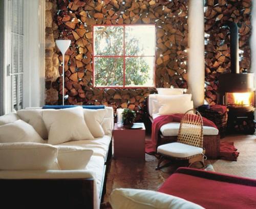 20 erstaunliche ideen f r dekoration mit brennholzmuster. Black Bedroom Furniture Sets. Home Design Ideas