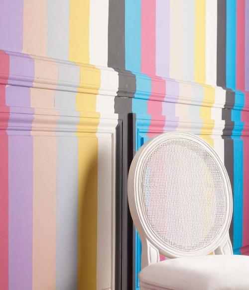 dekoration mit zierleisten bunt farben interessant