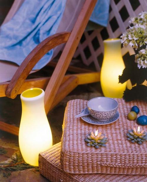 dekorative beleuchtung im garten lampen